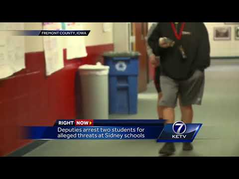 Deputies arrest 2 students for alleged threats at Sidney schools