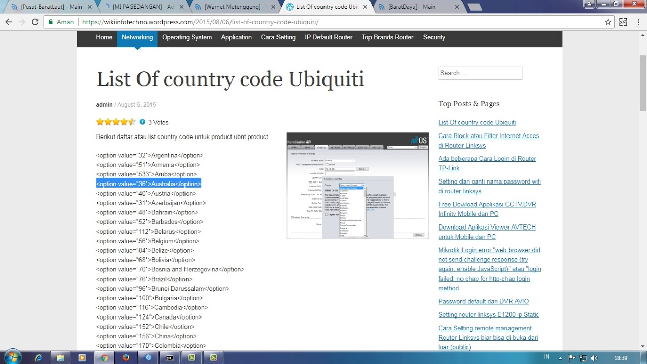 Change Country Code Without Reset Ubiquiti Device