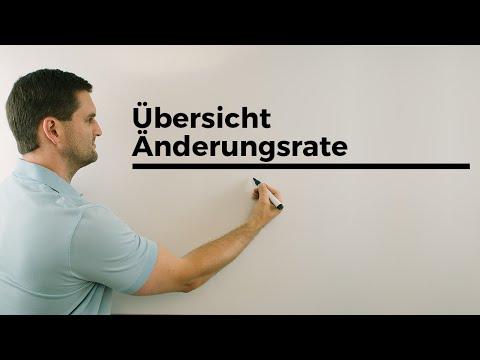 Übersicht durchschnittliche, momentane Änderungsrate, Anwendung, Geschwindigkeit | Daniel Jung from YouTube · Duration:  7 minutes 16 seconds