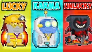 Lucky Vs. Karma Vs. UnLucky In GrowTopia
