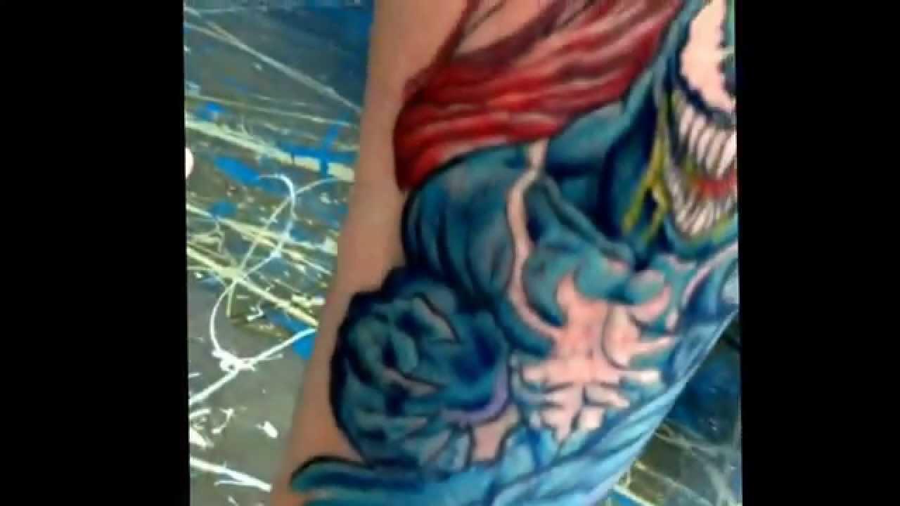 Venom Carnage Tattoo: Venom And Carnage Tattoo By Iskotew Gladu