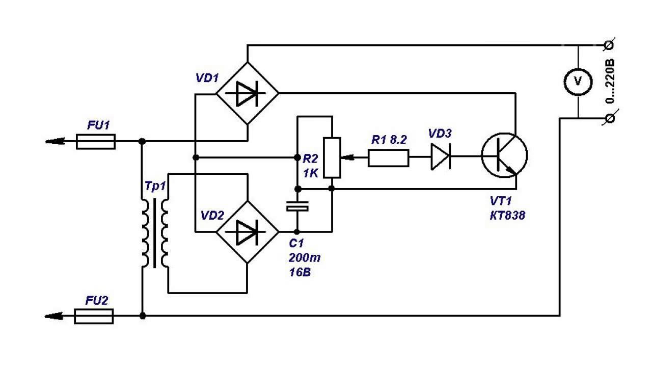Стабилизатор сетевого напряжения на транзисторе аппарат сварочный arc 180 pro z208s