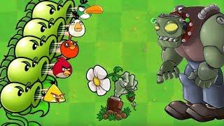 Angry Birds vs Zombies 5 - PEASHOOTER SHOOTING BIRDS TO ZOMBOSS!