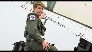 William Byron Rides With The U.S.A.F. Thunderbirds