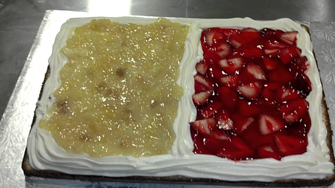 Strawberry glaze cake filling recipe