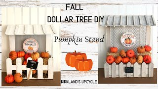 FALL DOLLAR TREE DIY  |  Farmer's Market Stand | Farmhouse Inspiration