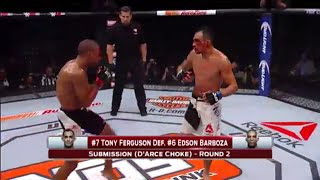 TONY FERGUSON VS EDSON BARBOZA 2ND ROUND ARCE CHOKE (UFC TUF 22 REVIEW)