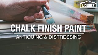How to Use Chalk Finish Paint | Antiquing and Distressing Tips