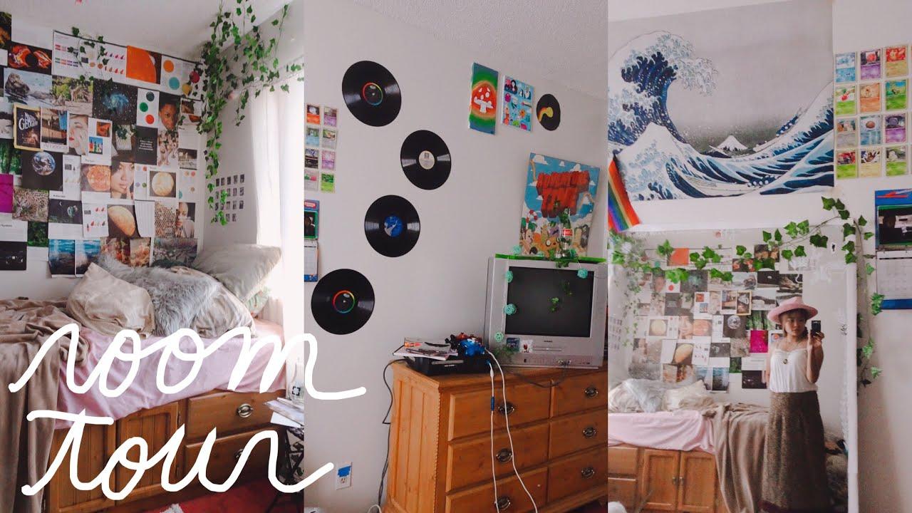 aesthetic room tour 2019 (retro, vintage, & artsy ... on Room Decor Aesthetic id=48415