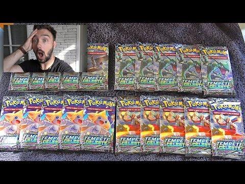 INCROYABLE Ouverture de 20 Boosters Pokémon SOLEIL et LUNE TEMPETE CELESTE !