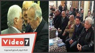 مرتضى منصور وحسن شحاته ونجوم الزمالك فى عزاء أحمد رفعت