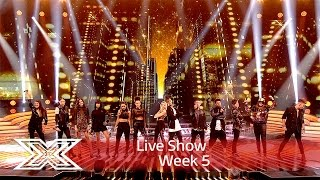 The Contestants kick off the show with Keep on Movin' | Results Show | The X Factor UK 2016