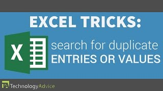Excel Tricks - Search for Duplicate Entries or Values