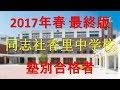 同志社香里中学校 塾別合格者 2017年【グラフでわかる】