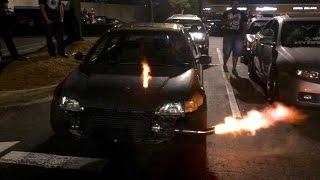 MOST INSANE CAR MEET EVER!!! #2 ( Flames, Burnouts, Etc. )
