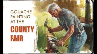 Gouache Painting at the County Fair