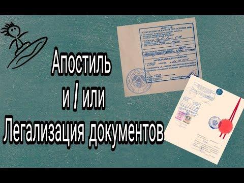 ДОКУМЕНТЫ ДЛЯ ИМИГРАЦИИ! //Апостиль и легализация документов.//В чём разница??