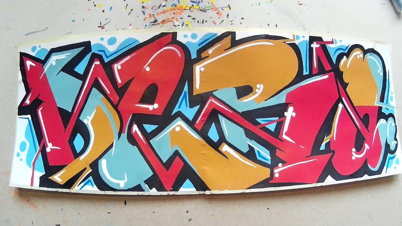 Graffiti Speedart L Speedpaint Name Request Dero Sticker