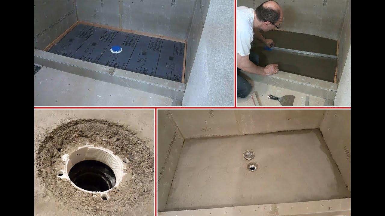 Shower liner Concrete shower base. Душевой поддон из бетона