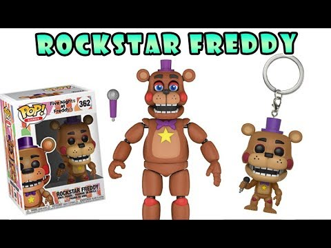 Five Nights at Freddy's Funko Rockstar Freddy - Articulated Figure, POP & Keychain Review 2018