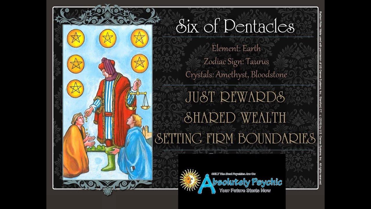 6 Of Pentacles Tarot Card