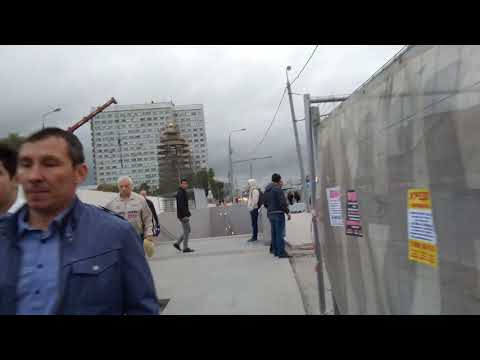 Москва 343 от станции МЦК Нижегородская до ТЦ Город Рязанский проспект лето вечер