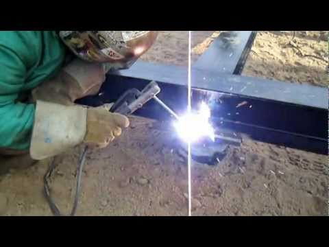 Welding Fabrication  -  Welding The Frame Down