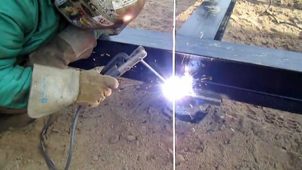 Welding Fabrication - Welding The Frame Down - YouTube
