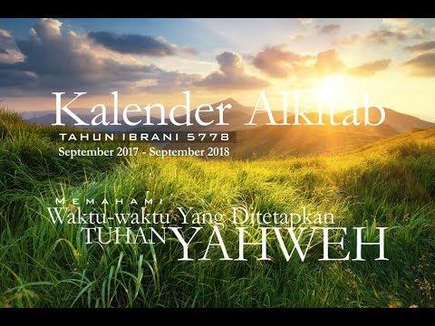 Kalender Ibrani 5778 (September 2017 - September 2018)