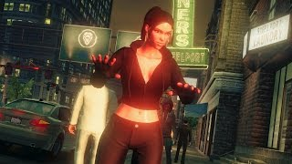 Babe Gets Used to Artificial Reality and Learns Superpowers (Saints Row 4. Sexy Girl)