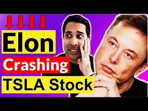 Elon Musk Is Causing Tesla's Stock Crash? 🚨 TSLA Analysis