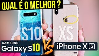 SAMSUNG GALAXY S10 APANHA ou DESTROI IPHONE XS 🤨