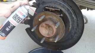 2001 Ford F150 Rear Brake Service - Pads, Rotors, Emergency Parking Break