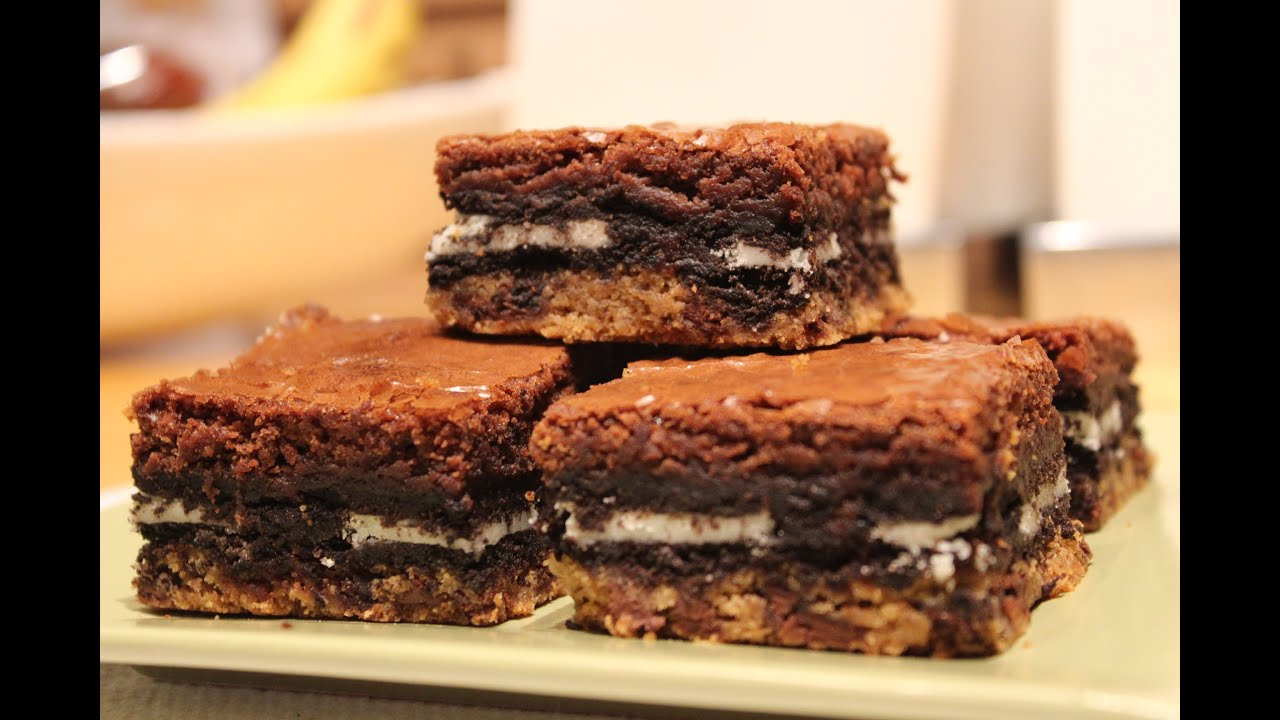 How To Make: Slutty Brownies (Cookie Oreo Brownies) - YouTube