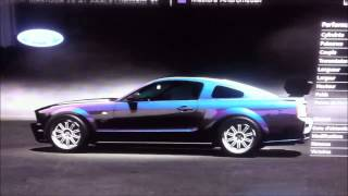 Ford mustang V8 GT moteur Honda Weiber chassis Nissan GTR concept sur circuit Superspeedway