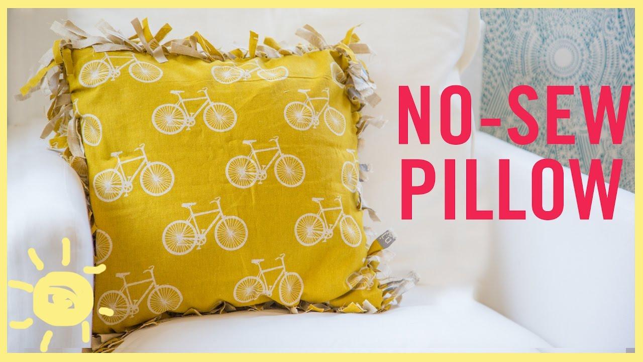 Diy No Sew Pillow Youtube