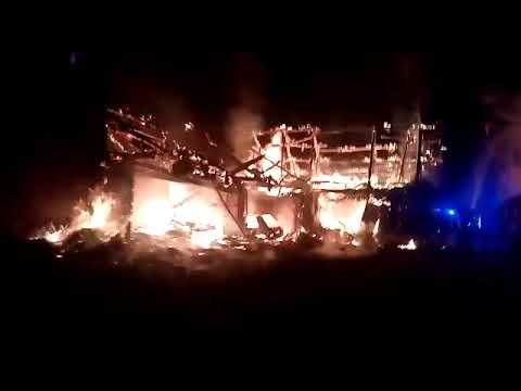 Fuego Villaverde de la Abadía, en El Bierzo