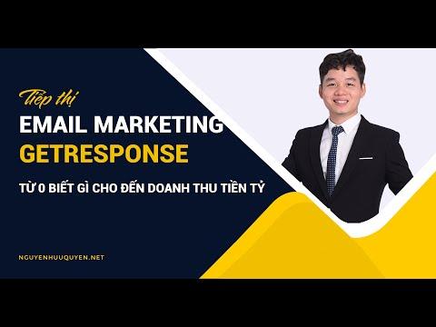 Email Marketing bằng Getresponse - Tiếp thị - Tự động trong hệ thống Digital Marketing
