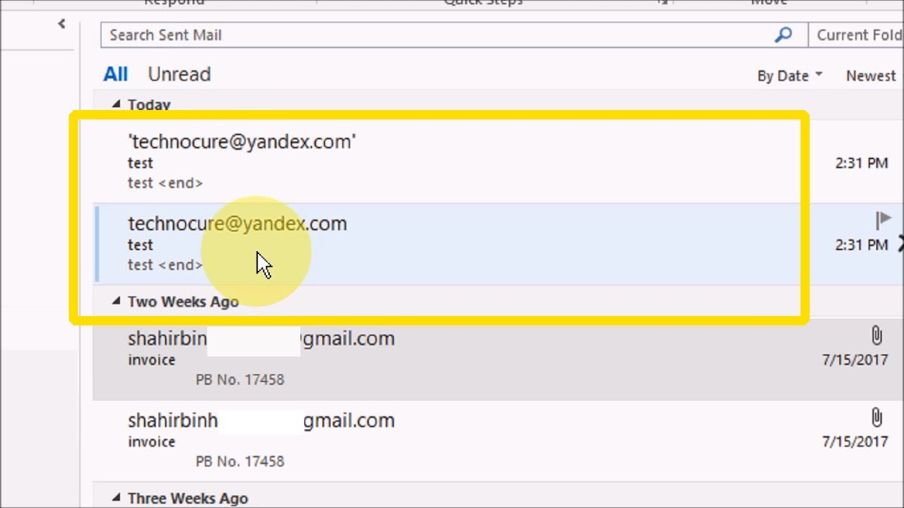 How to Prevent Duplicate emails in the sent folder on Outlook 2016