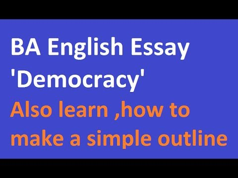 High School Reflective Essay Examples Ba English Essay Democracy With Outline Lecture By Shahid Bhatti High School Essay Format also Sample Essays High School Ba English Essay Democracy With Outline Lecture By Shahid Bhatti  Synthesis Example Essay