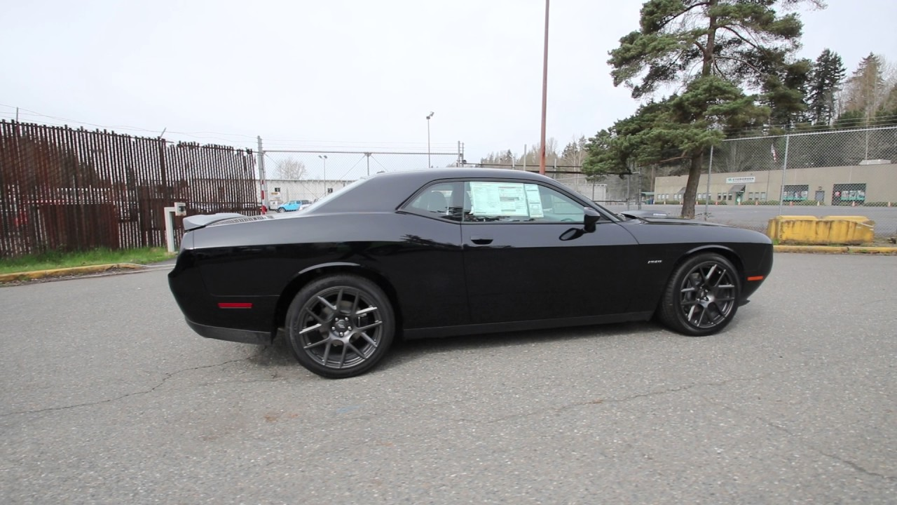 2017 Dodge Challenger R/T | Pitch Black Clearcoat ...