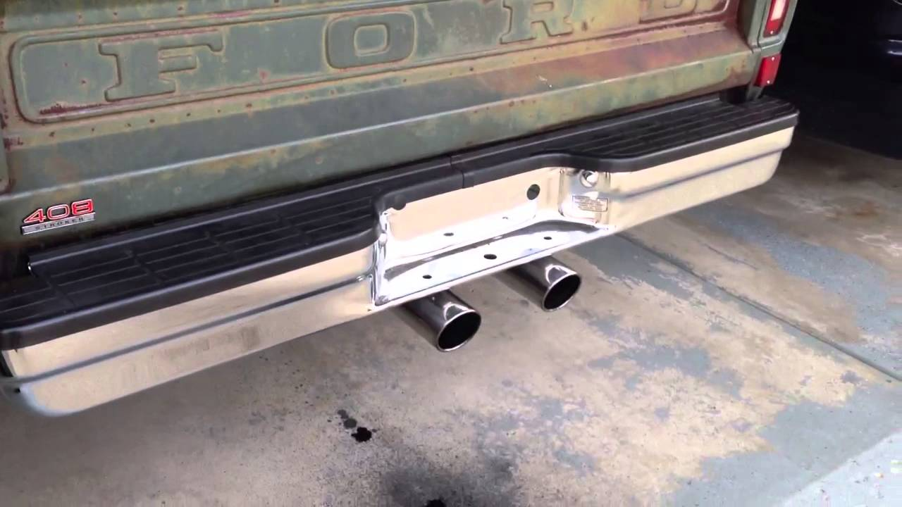 1968 ford f100 flowmaster super 44 exhaust take 2  [ 1280 x 720 Pixel ]