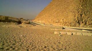 walking through the pyramids of giza