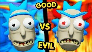 GOOD RICK vs EVIL RICK! Who Wins The SECRET BATTLE? (Rick and Morty: Virtual Rick-Ality Gameplay)