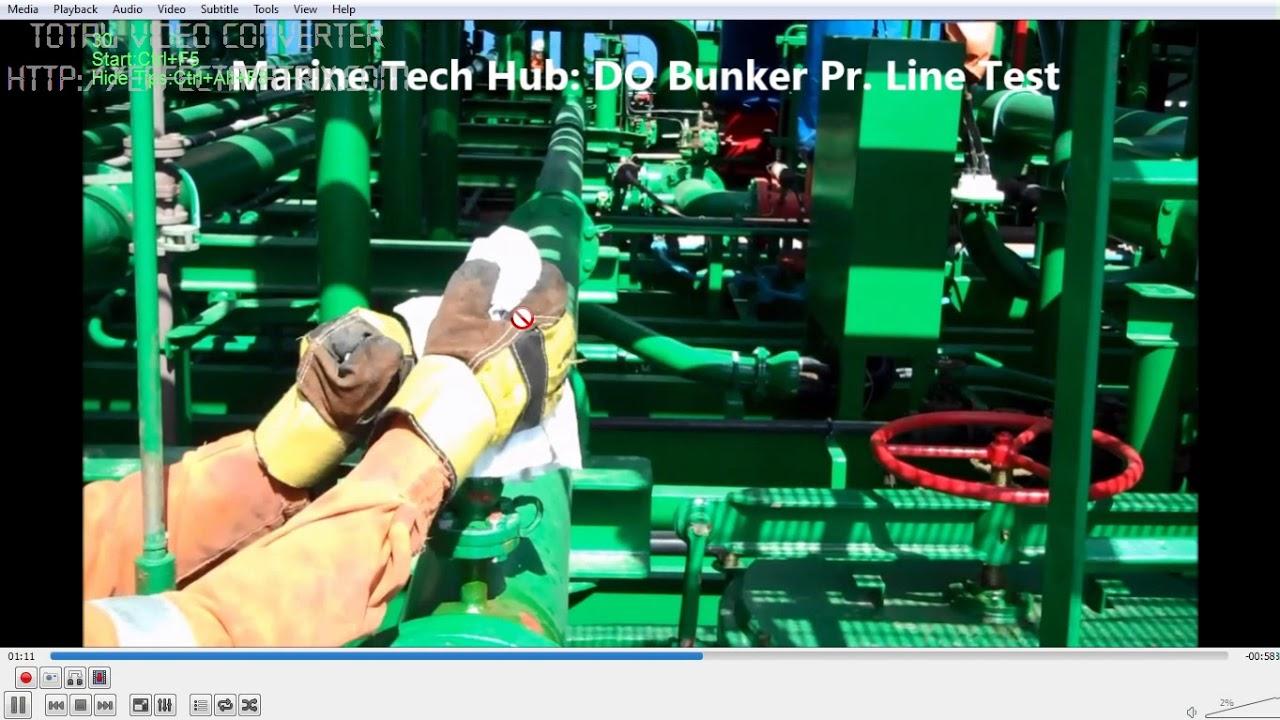 Diesel Oil Bunker Line Pressure Testing