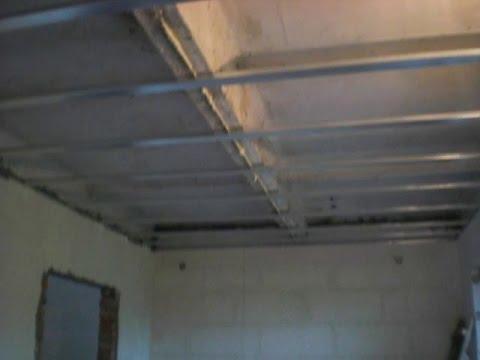 Как сделать потолок из гипсокартона своими руками видео