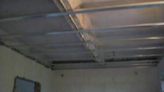 № 1 Подвесной потолок из гипсокартона своими руками. Часть первая (из трёх)(Как сделать подвесной потолок из гипсокартона самостоятельно. В ролике подробно и доступно, даже для начин..., 2014-07-27T23:39:26.000Z)