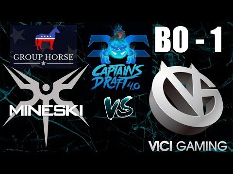 VG vs MINESKI - Captains Draft 4.0, Group HORSE, Upper Bracket, BO1