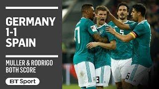 Germany 1-1 Spain highlights (Rodrigo, Muller)
