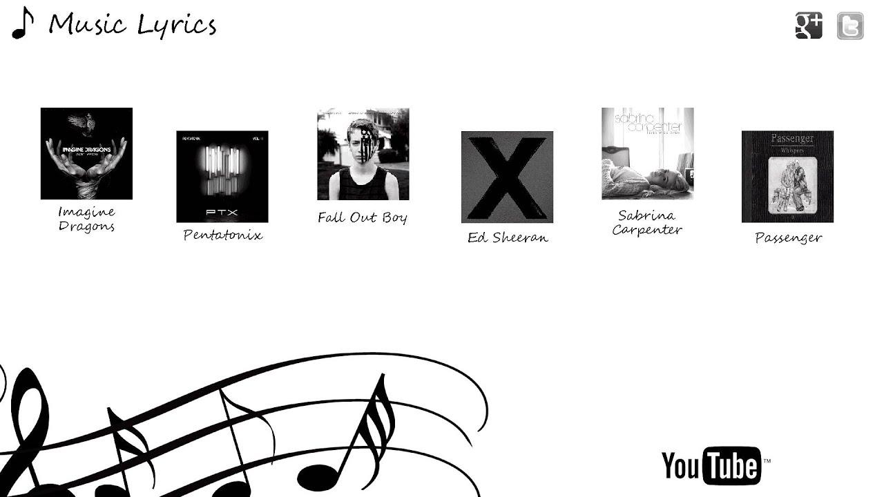Music Lyrics Channel Guide Youtube